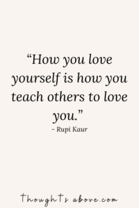 learn to love yourself quote