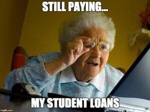 student loan debt still paying