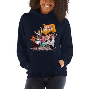 unisex navy girlpower hoodie
