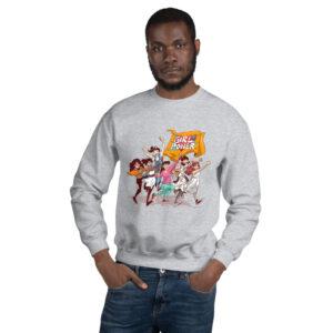 Unisex Gray Sweatshirt Girlpower
