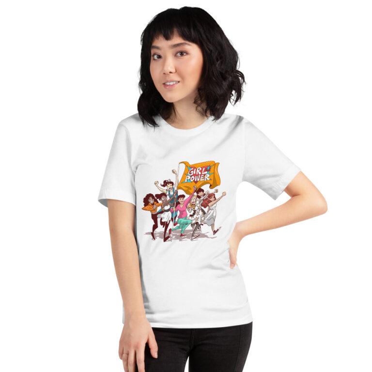 white unisex girlpower t-shirt