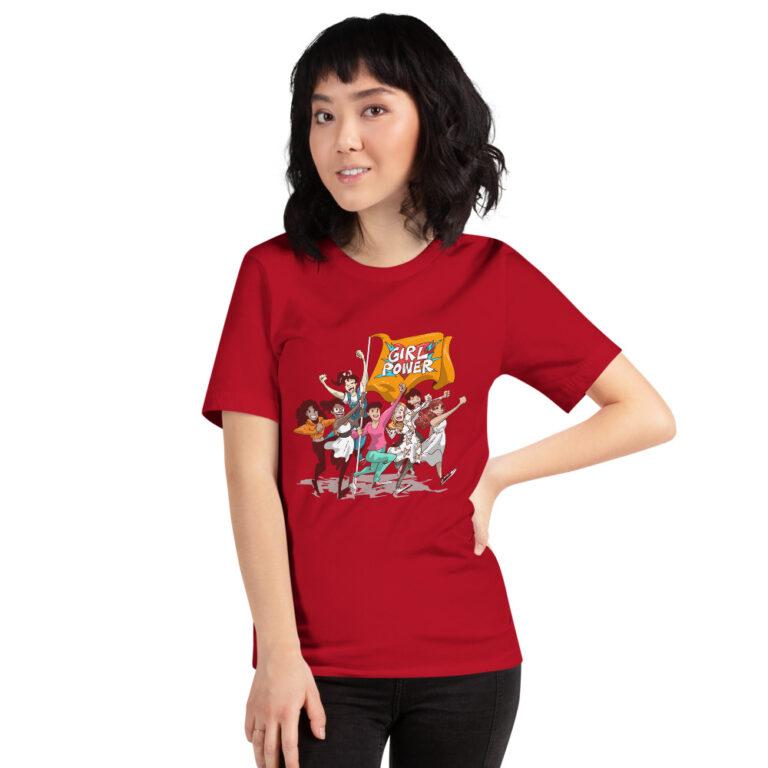 unisex girlpower red t-shirt