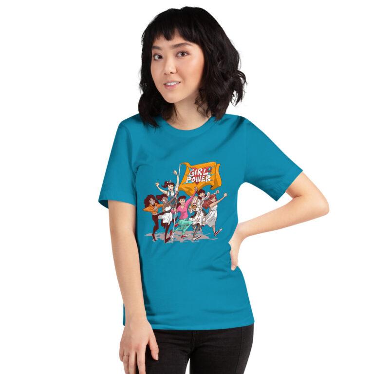 girlpower aqua unisex t-shirt