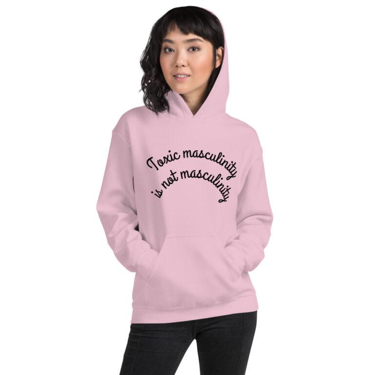 Unisex Toxic Masculinity Hoodie Pink