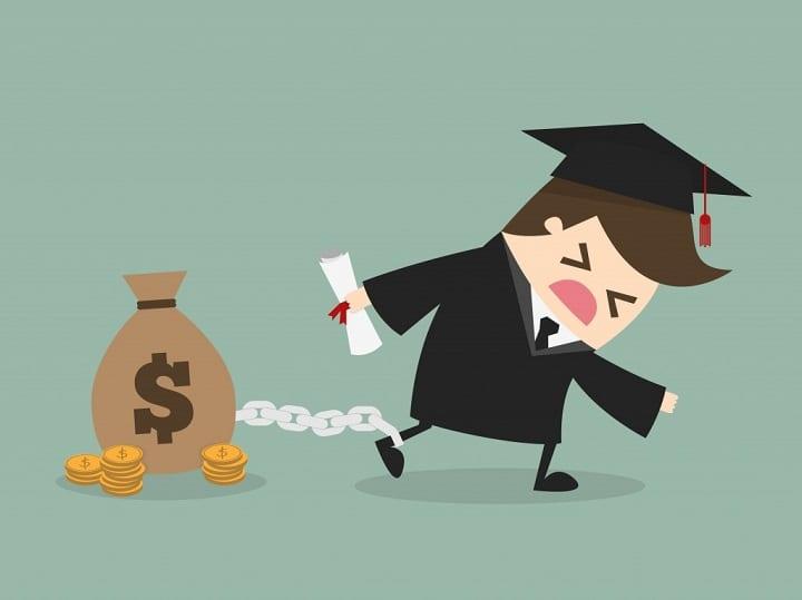 student loan debt poster