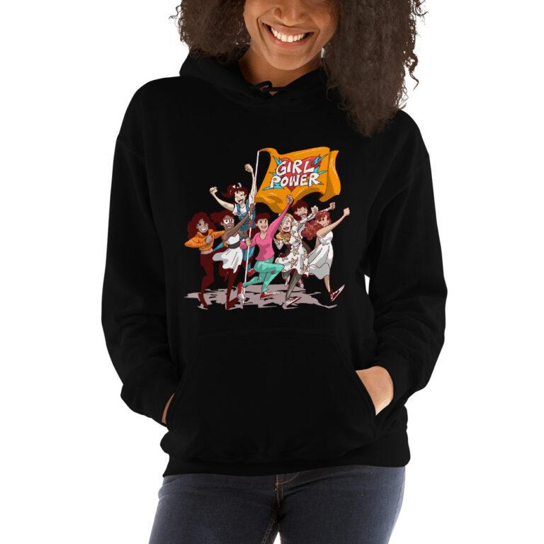 unisex hoodie black girlpower