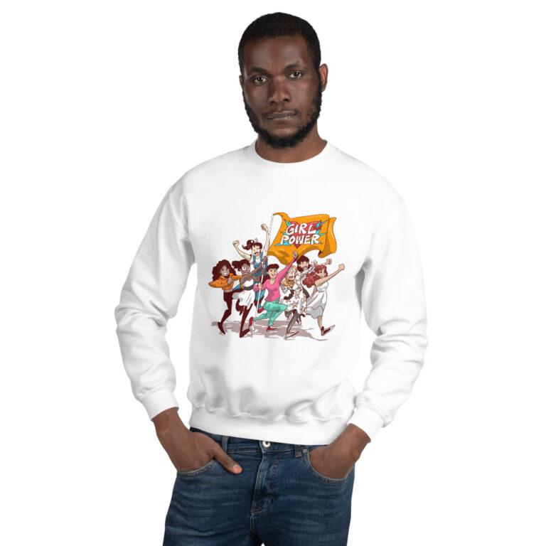 White Unisex Girlpower Sweatshirt