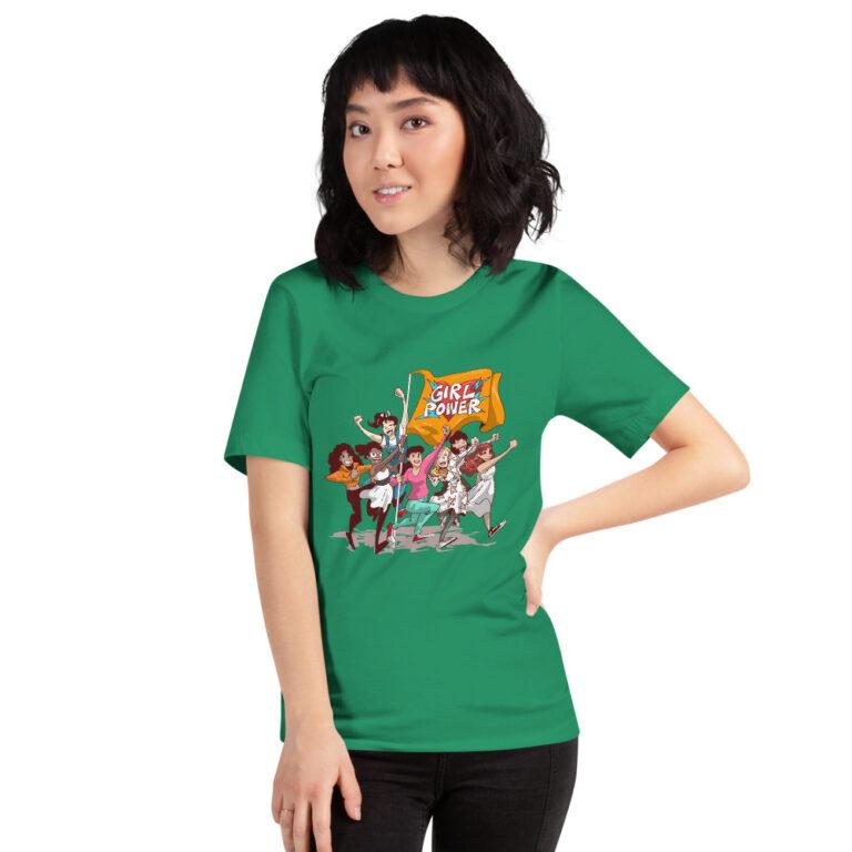 unisex green girlpower t-shirt
