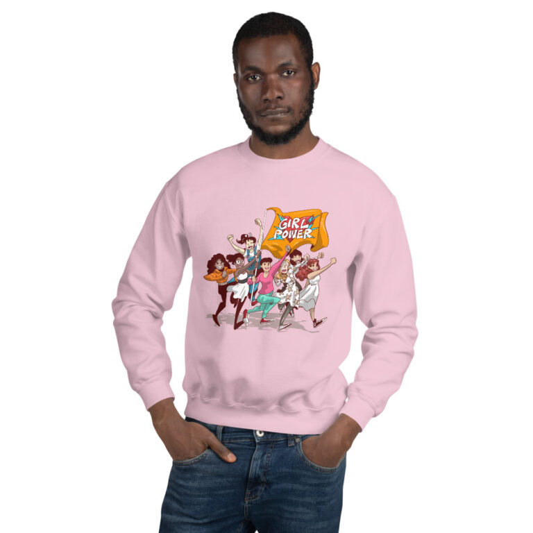 Unisex Light Pink Girlpower Sweatshirt