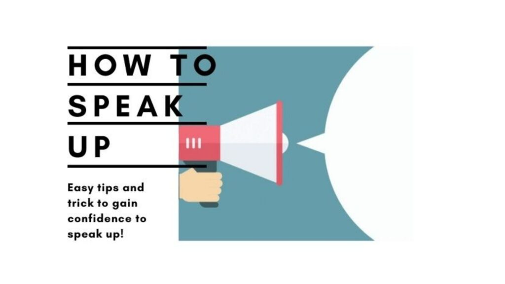 How to speak up title