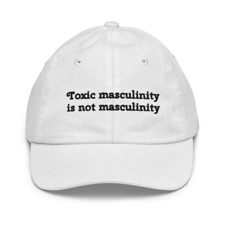 Toxic Masculinity Baseball Cap white