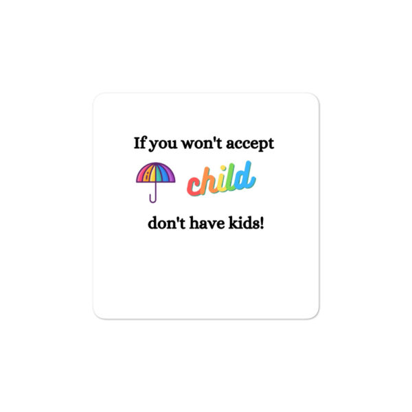 If you won't accept Sticker
