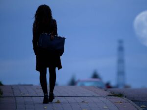 feminist walking alone