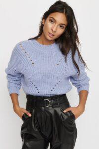 Pointelle Mockneck Sweater spring clothing